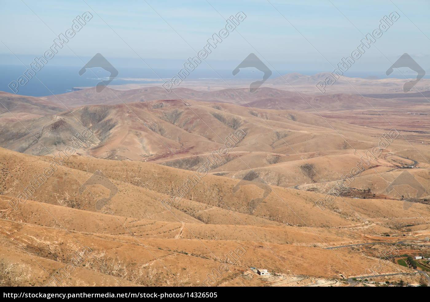 Fuerteventura, Kanarischen Inseln, Kanaren, Panorama, Berge, Hügel - 14326505