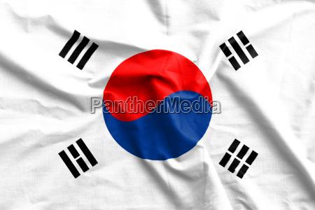 korea flag cotton texture