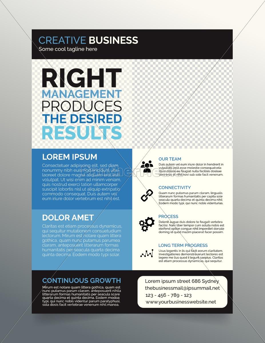 business flyer vorlage a4 - modernes zeitgenössisches - Stockfoto ...