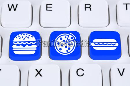 pizza hamburger fast food online order