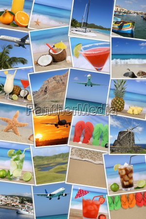 background from photos of vacation with
