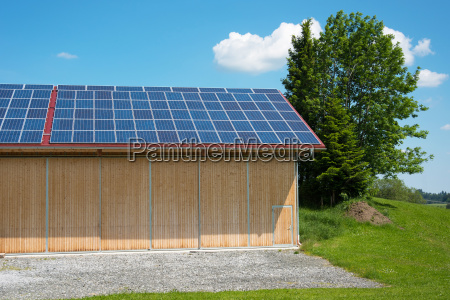 photovoltaic system on barn roof