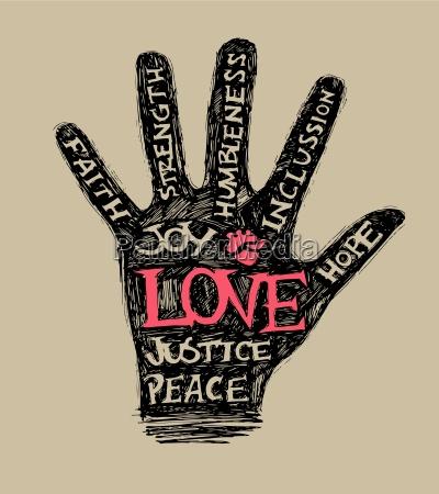 positive hand