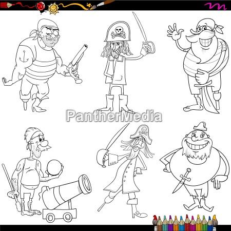 fantasie piraten cartoon malvorlagen