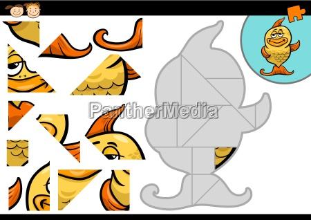 cartoon fish jigsaw puzzle game