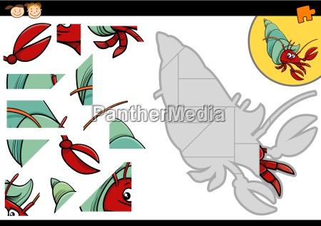 cartoon hermit crab jigsaw game
