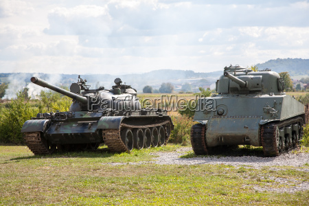 alte verlassene panzer nach krieg in