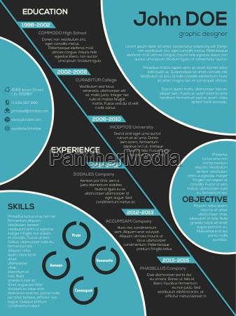 modern resume curriculum vitae with cool