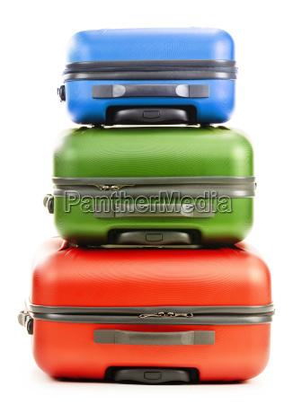 gepaeck bestehend aus drei koffer isoliert