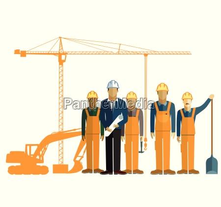 architekt und bauarbeiter auf einer baustelle