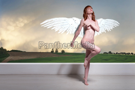 art nude woman with wings