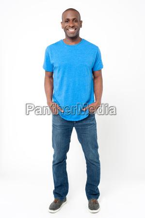 handsome man posing casually