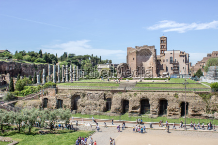 view from the colosseum to the