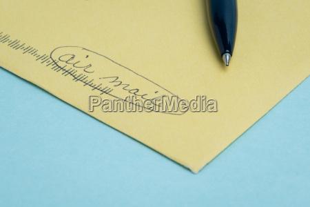 blau schreiben schreibend schreibt kommunikation schrift