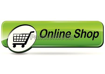 online shop web button