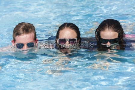 teenagers pool fun