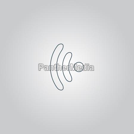 drahtlose ikone vektorillustration flacher design stil