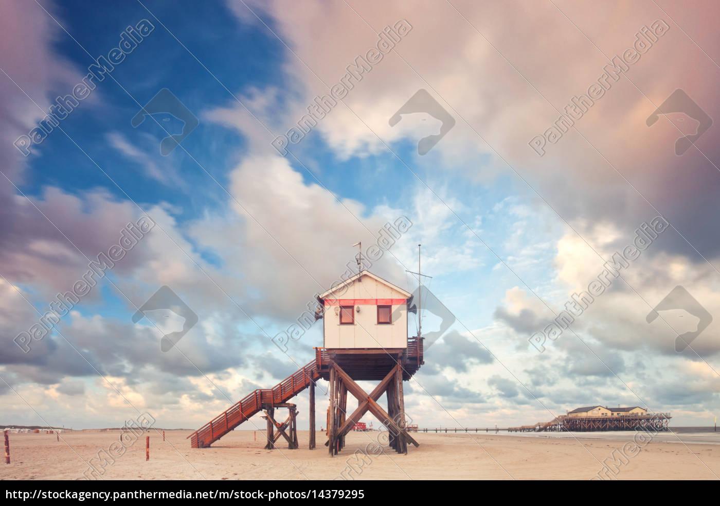 stelzenhaus, an, der, nordsee - 14379295