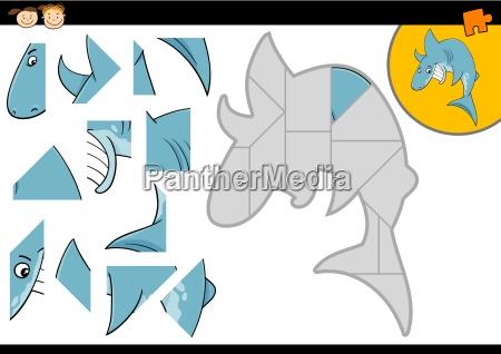 cartoon shark jigsaw puzzle game