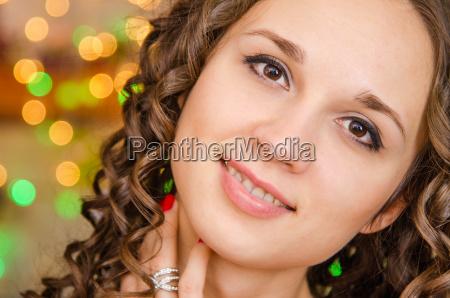 close up portrait of a happy