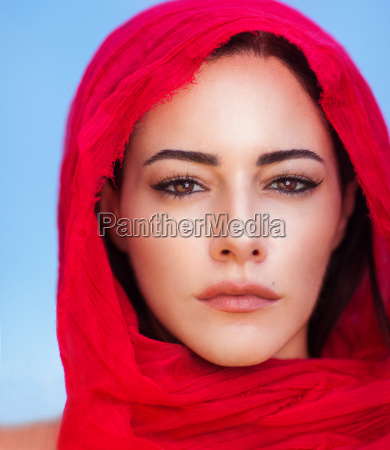 beautiful arabic woman portrait