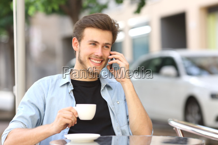 man talking on the mobile phone
