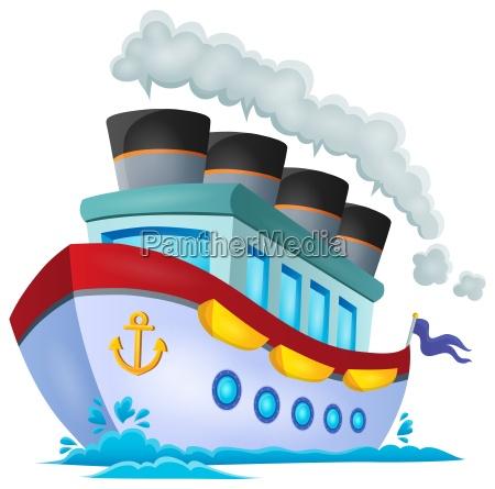 nautisches schiff thema bild 1