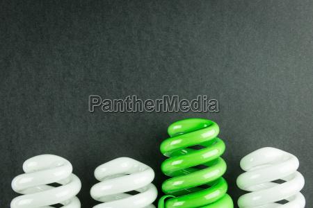 energiesparende, glühbirnen, business-konzept, der, differenzierung - 14389665