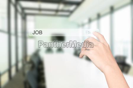 handklick finden job interface buero innenhintergrund