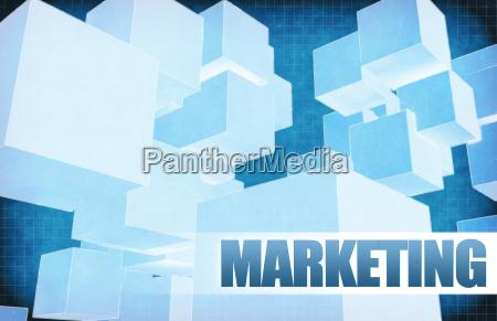 marketing on futuristic abstract