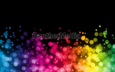 rainbow bokeh background illustration