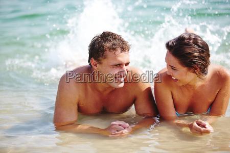 having fun in water