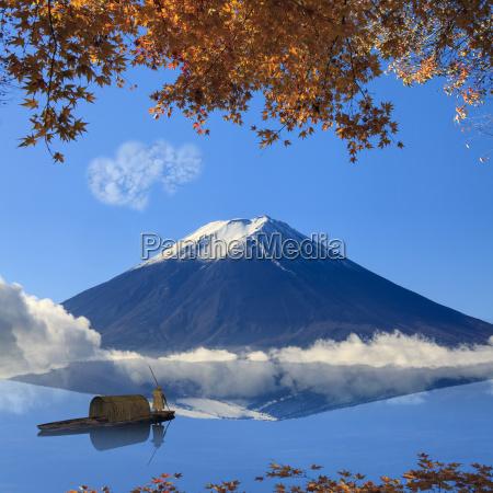 bild des heiligen berges von fuji