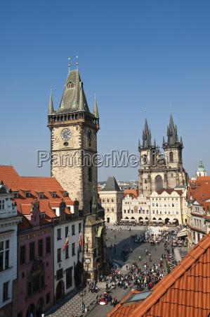 altstaedter rathaus und teynkirche prag tschechien