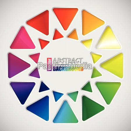 abstract background with triangles and rainbow