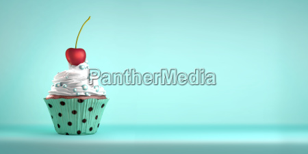koestliche cupcake gekroent mit einer kirsche