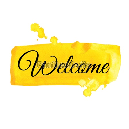 welcome sign watercolor illustration