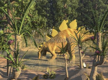 tier reptil illustration dinosaurier landschaftsbild landschaft