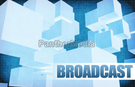 broadcast on futuristic abstract