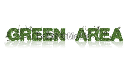 green area logo aus gruenem