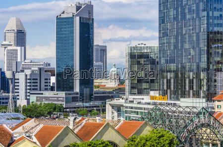 ansichten singapur downtown stadtstaat indonesien