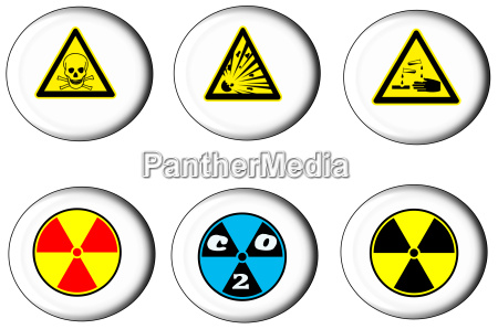 danger sign on button