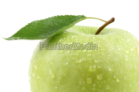 macro of green apple fruit with
