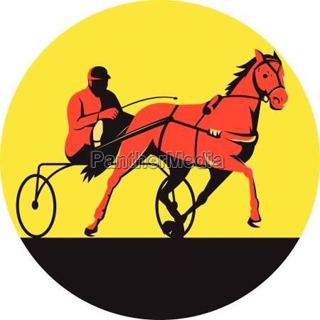 pferd und jockey harness racing kreis