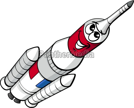 space rocket cartoon illustration
