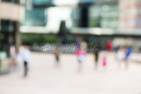 blur view of commercial district background