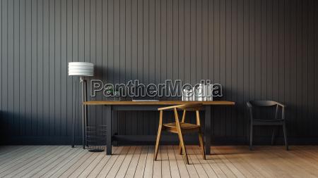 das moderne interieur des home office