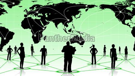 globale verbindung des menschen soziale business