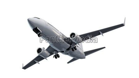 modernes passagierflugzeug im flug isoliert