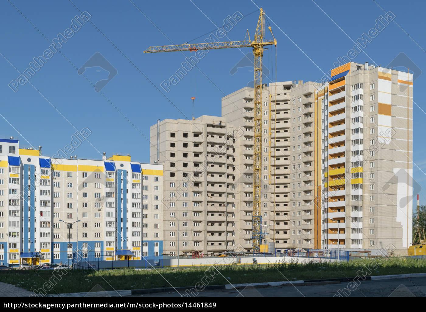 der, bau, eines, neuen, hochhaus - 14461849